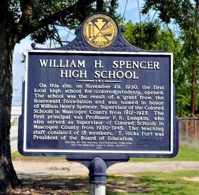 William H. Spencer High School Marker image. Click for full size.