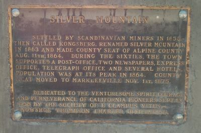 Silver Mountain Marker Photo, Click for full size