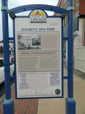 Lincoln's 1854 Visit Marker image. Click for full size.