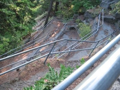 Part of the Trail Leading to the Top of Beacon Rock image. Click for full size.