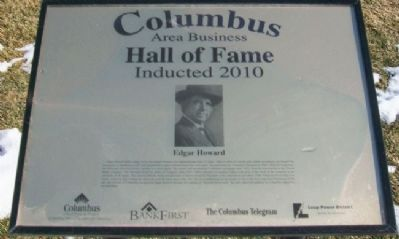 Columbus Area Business Hall of Fame 2010 Marker image. Click for full size.