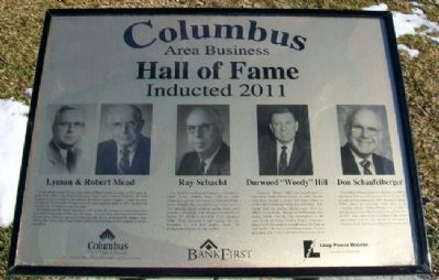 Columbus Area Business Hall of Fame 2011 Marker image. Click for full size.