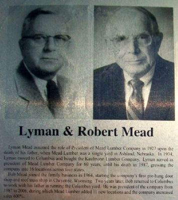 Lyman & Robert Mead on Columbus Area Business Hall of Fame Marker image. Click for full size.