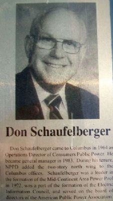 Don Schaufelberger on Columbus Area Business Hall of Fame Marker image. Click for full size.