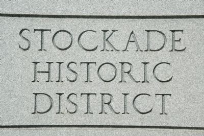 Stockade Historic District Marker image. Click for full size.