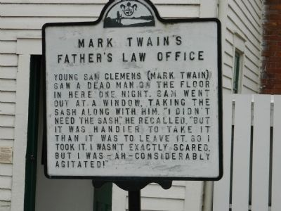 Mark Twain's Father's Law Office Marker image. Click for full size.