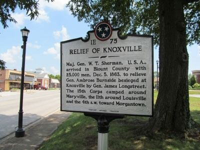 Relief of Knoxville Marker image. Click for full size.