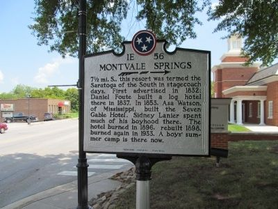 Montvale Springs Marker Photo, Click for full size