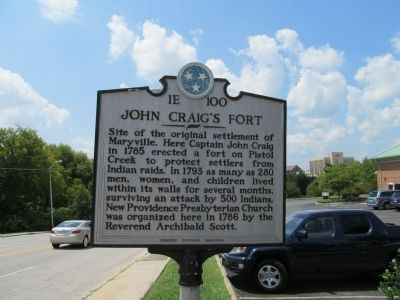 John Craig's Fort Marker Photo, Click for full size