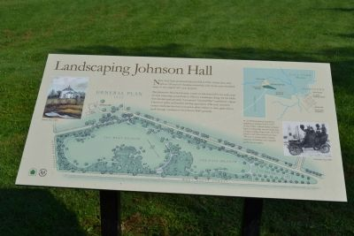 Landscaping Johnson Hall Marker Photo, Click for full size