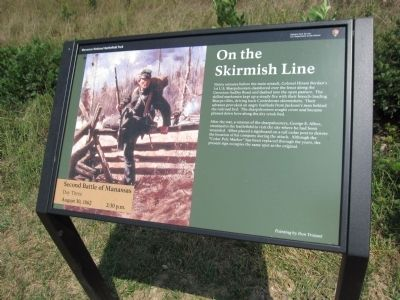On the Skirmish Line Marker Photo, Click for full size