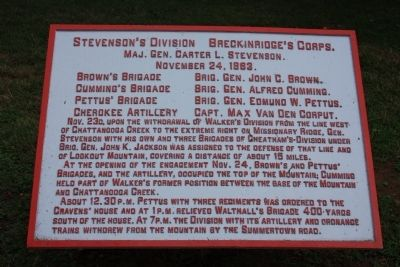 Stevenson's Division Marker Photo, Click for full size