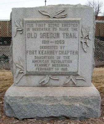 Old Oregon Trail Monument Photo, Click for full size