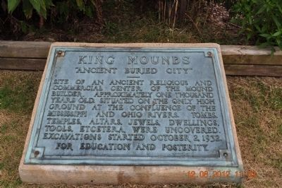 King Mound Marker image. Click for full size.