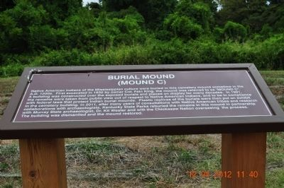 Burial Mound Mound C Marker Photo, Click for full size