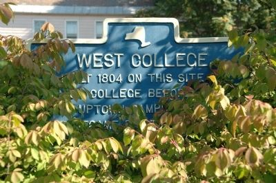 West College Marker image. Click for full size.