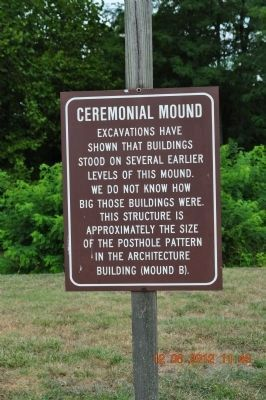 Ceremonial Mound Marker (Mound A) image. Click for full size.
