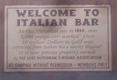 Welcome to Italian Bar Marker Photo, Click for full size