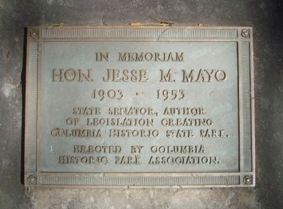 Hon. Jesse M. Mayo Marker Photo, Click for full size