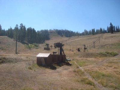 Dodge Ridge Ski Slopes, in Summer Photo, Click for full size