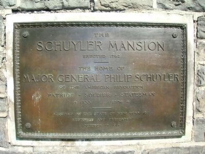 Schuyler Mansion Marker Photo, Click for full size