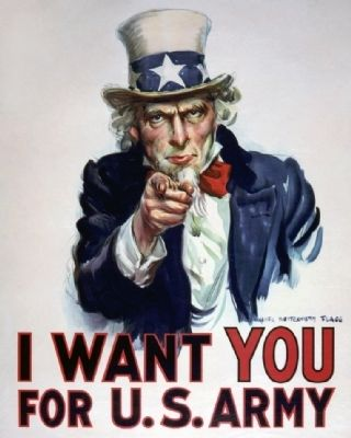 Uncle Sam Wants You image. Click for full size.
