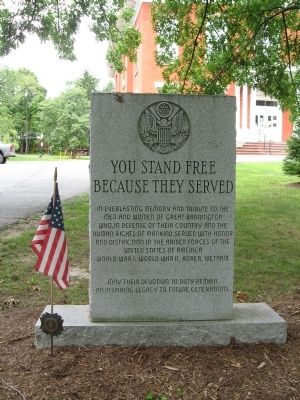 You Stand Free Because They Served Marker image. Click for full size.