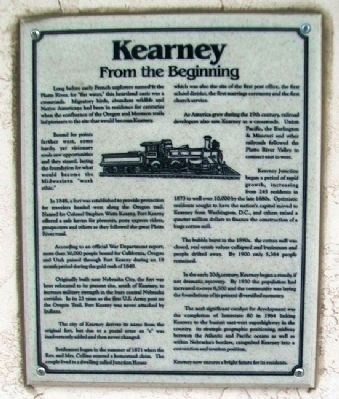 Kearney: From the Beginning Marker image. Click for full size.