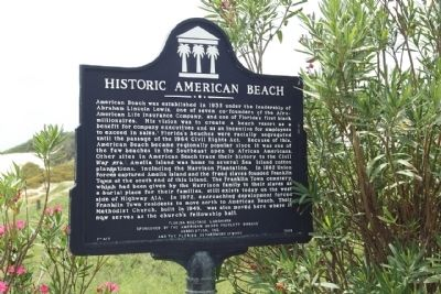 Historic American Beach Marker image. Click for full size.