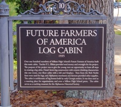 Future Farmers of America Log Cabin Marker image. Click for full size.