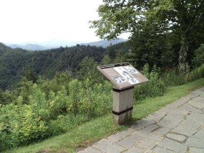Marker at the Great Smoky Mountains NP image. Click for full size.