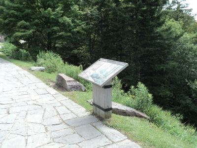 Marker in Great Smoky Mountains NP image. Click for full size.
