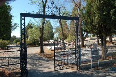 Iron Gates of the Catholic Cemetery image. Click for full size.