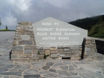Highest Elevation on Blue Ridge Parkway Marker image. Click for full size.