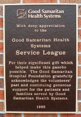 Good Samaritan Air Crew Memorial Gazebo Sponsor Marker image. Click for full size.