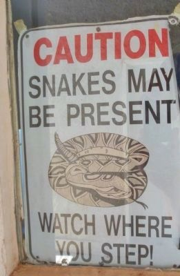 A very important sign at the ranch... image. Click for full size.