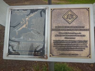 James A. Maple & Trans-Alaska Pipeline Marker image. Click for full size.