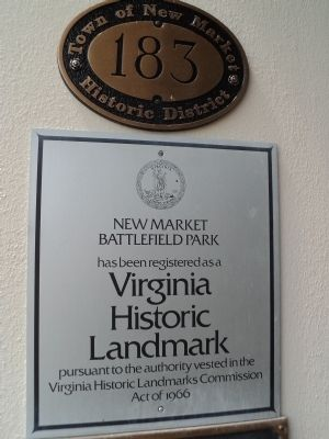New Market Battlefield Park Marker image. Click for full size.