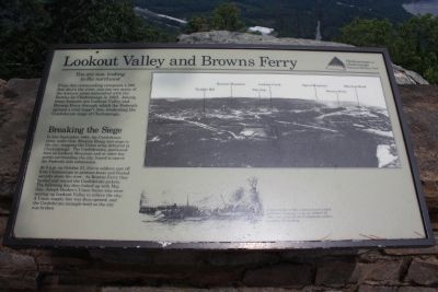 Lookout Valley and Browns Ferry Marker image. Click for full size.