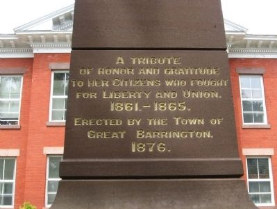Great Barrington Civil War Memorial Photo, Click for full size