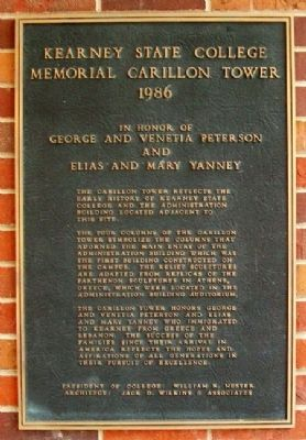 Kearney State College Memorial Carillon Tower Marker Photo, Click for full size