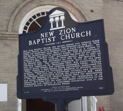 New Zion Baptist Church Marker image. Click for full size.