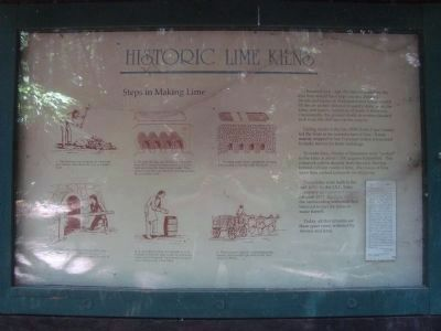 Historic Lime Kilns Marker image. Click for full size.