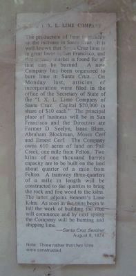 Copy of Newspaper Article Displayed on the Historic Lime Kiln Marker image. Click for full size.