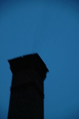 Chimney Swifts Entering the Chimney image. Click for full size.