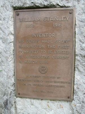 William Stanley Marker image. Click for full size.