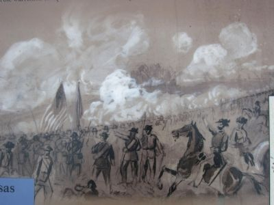 Alfred R. Waud Sketch of the Battle Photo, Click for full size