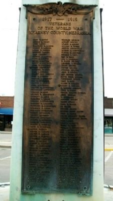 World War Memorial Roll of Veterans image. Click for full size.