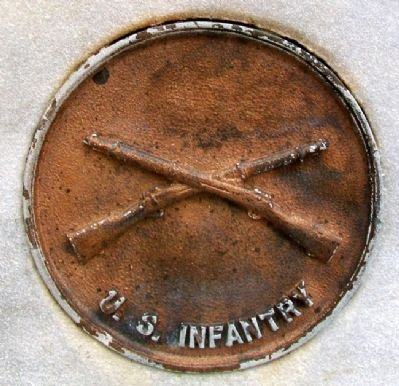 World War Memorial Infantry Medallion image. Click for full size.