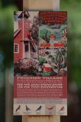 The One-room Schoolhouse Marker image. Click for full size.